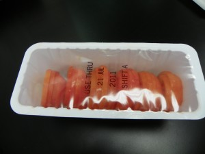 Tomatoes Packaged in Sealed Tray using HFFS Machine